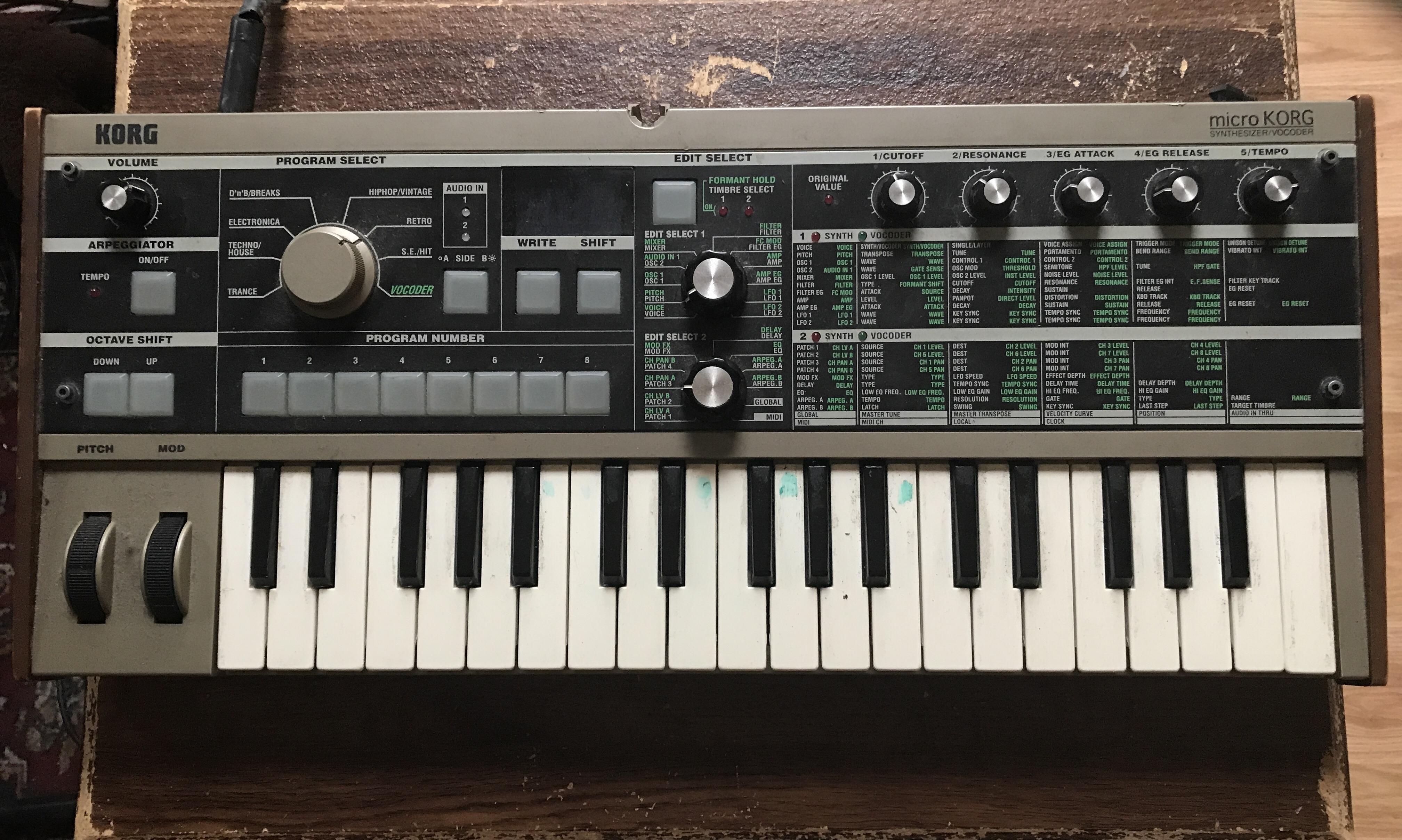 microKORG Synth Vocorder